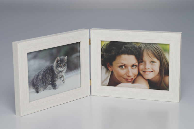 Foto-Doppelrahmen 10 x 15 Weiss
