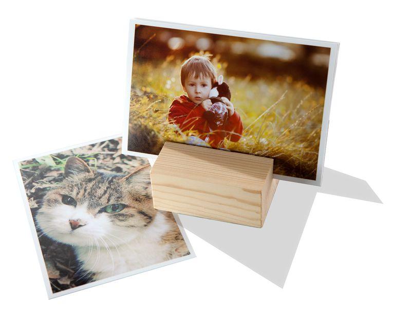 Fotos im Holzaufsteller