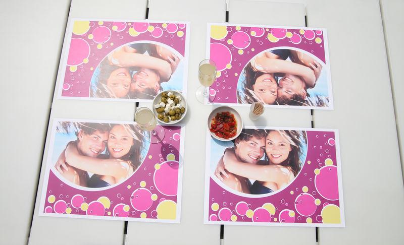 Image of 24er Papier-Tischsets mit Foto