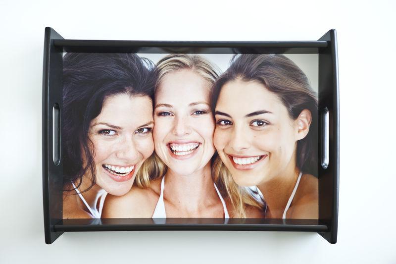 Servier-Tablett mit Foto