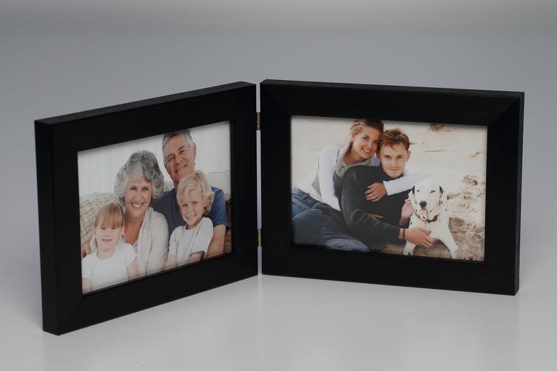 Foto-Doppelrahmen 10 x 15 Schwarz